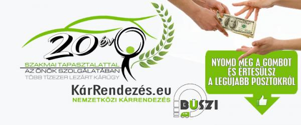 Kárrendezés.eu és BÜSZI Kft. Facebook oldala