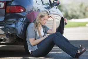 Női vezető autóbalesetet szenvedett