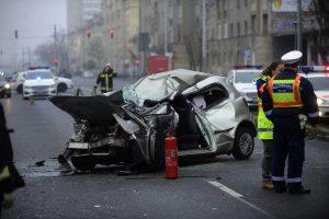 Halálos baleset az Üllői úton december 21-én (MTI-fotó)