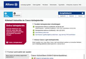 Az Allianz kárbejelentés a biztosítónál online megindítható, de az aláírt lapokat kinyomtatva is el kell juttatni az irodába.