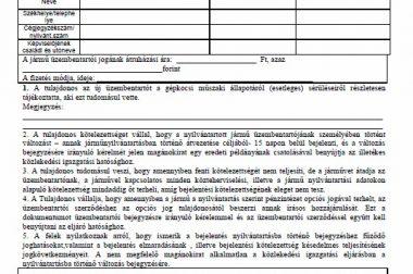 Üzembentartói szerződés 2017-2018 letöltés