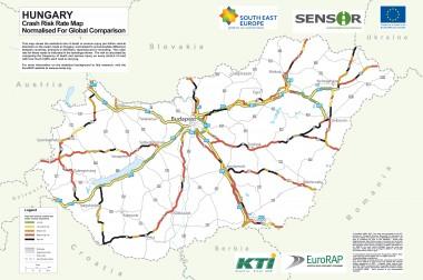Magyarországi halálutak térképe