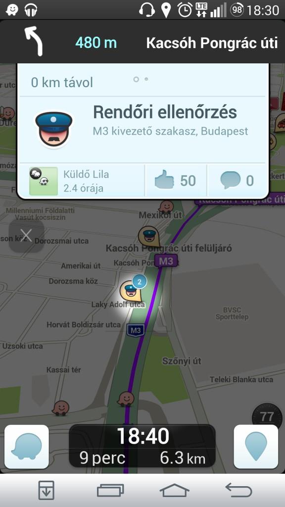 Traffipax előjelzés Waze mobile alkalmazás iPhone és android mobilra ingyenes letöltéssel