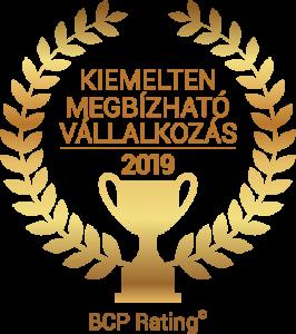 BÜSZI Kft. 2019 évben elnyerte a Kiemeltem Megbízható Vállalkozás címet